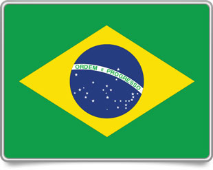 Brazilian framed flag icons with box shadow