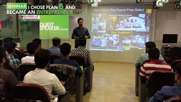 Eureka Pakistan Seminar on Entrepreneurship by Mohammad Mustafa Ahmedzai