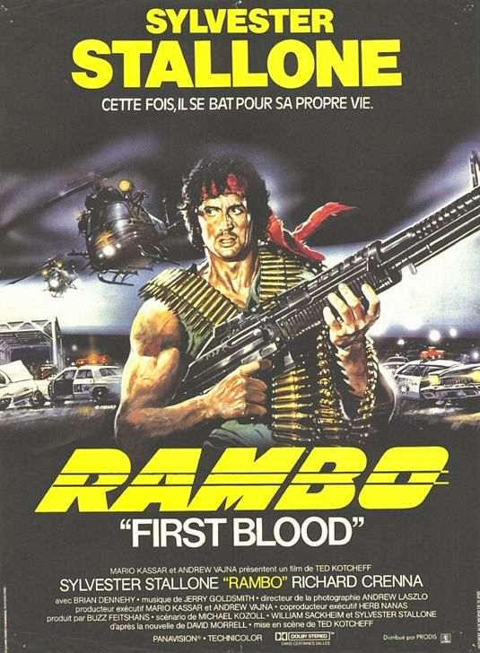 Poster Of Rambo: First Blood (1982) Full Movie Hindi Dubbed Free Download Watch Online At Alldownloads4u.Com