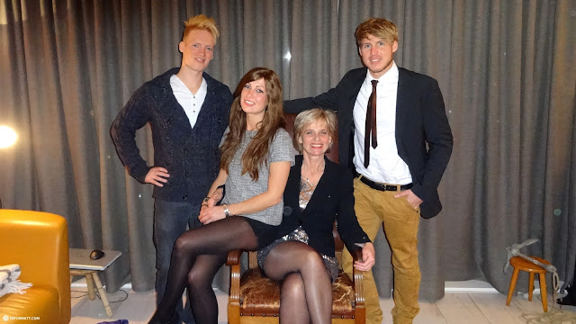 family photo in Holland with my mother and my siblings in IJmuiden, Noord Holland, Netherlands