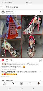 zapato personalizado con fotografias