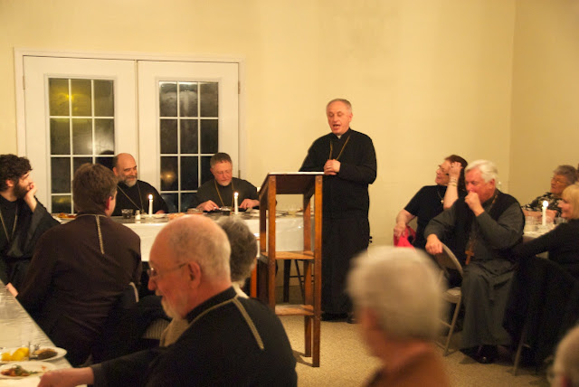 Fr. Wiaczeslaw Krawczuk welcomes guests and thanks Bp. Michael.