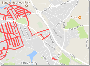 Park Ward surrounded parking map
