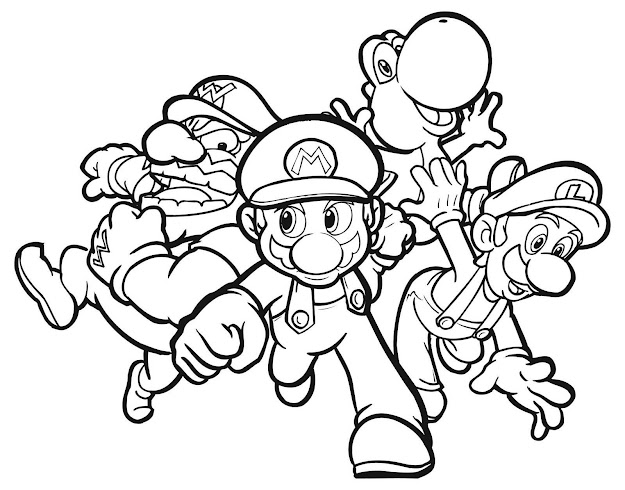 Coloring Pages For Kids Free To Print Coloring Pages For Free Printable  Mario Coloring Pages