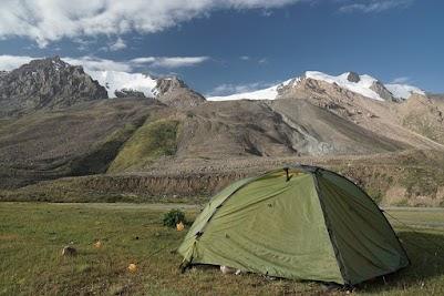 Unser Zeltplatz in 3.060 m Höhe