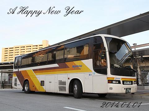 西鉄高速バス「さぬきエクスプレス福岡号」 3270 三菱KC-MS822P(西工92MC SD-Ⅱ) 2014年 web年賀状用写真