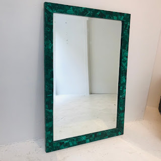 Made Goods Vivian Mirror in Malachite