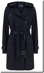 Mint Velvet navy hooded trench coat