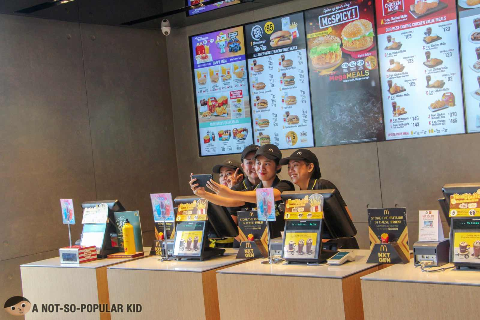 Friendly crew in NXTGEN stores of McDonald's
