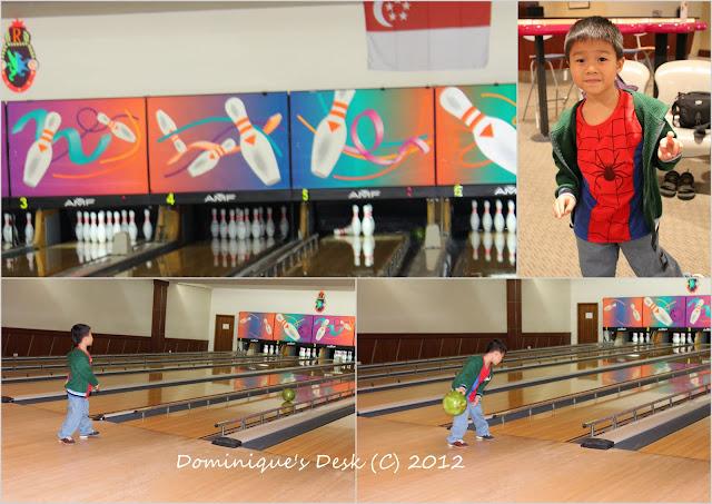Doggie boy bowling