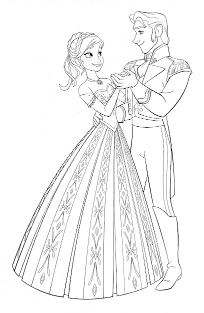 Frozen Coloring Pages Elsa And Hans