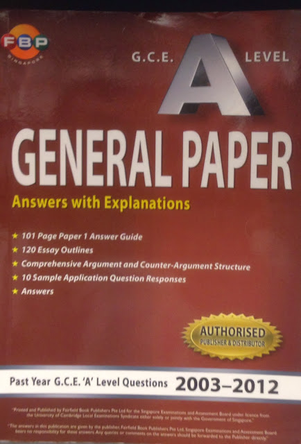 Singapore Math General Paper And Math Essays A Tenyear Series Of Past Exam Gp Papers