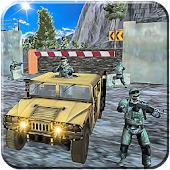Army truck drive US 3D