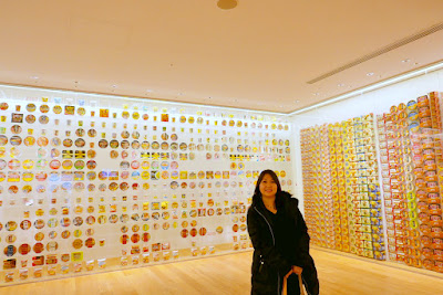 Momofuku Ando Instant Ramen Museum - the Instant Noodles History Cube shows the instant noodles lineup that started with the original Cup Noodles Chicken Ramen. Approximately 800 product packages shows how a single product grew to te 100 billion servings of instant noodles that are consumed every year around the world