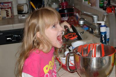 Amara Licking the Spatula