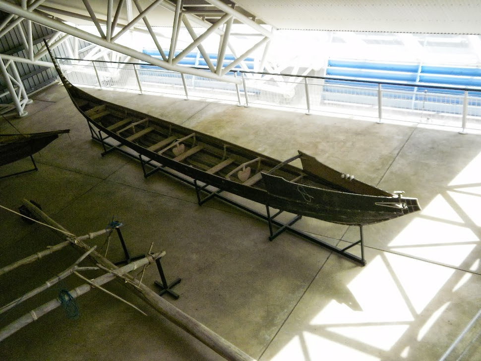 A dug-out canoe