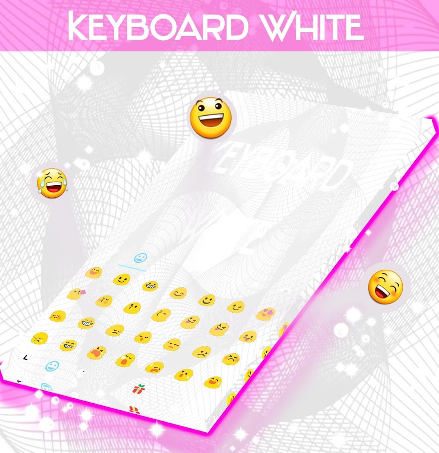 White Keyboard Theme- screenshot