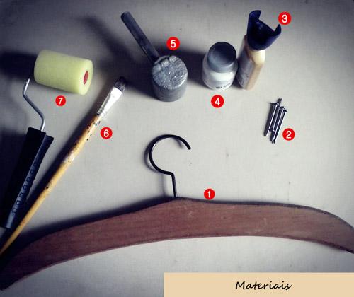 Materiais DIY cabide