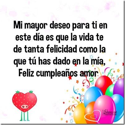 cumpleaños de un amor
