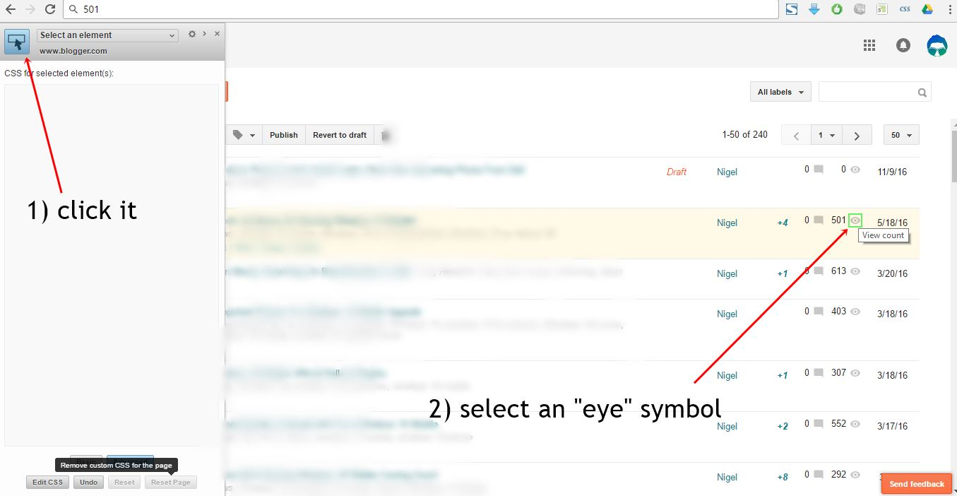 New Eye Symbol With Blog Post Hits Number Google Product Forums