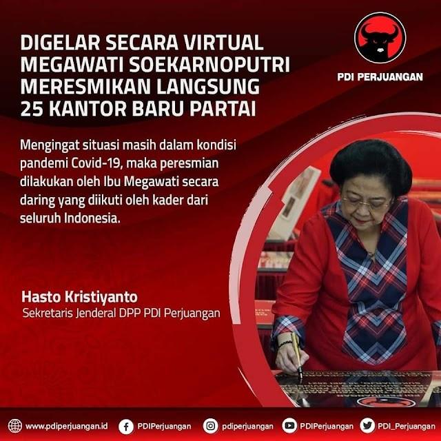 Megawati Soekarnoputri Resmikan 25 Kantor PDIP se Indonesia