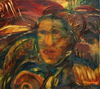 Mutter Erde 'Gaya', 70x60, Öl auf Leinwand, 2006