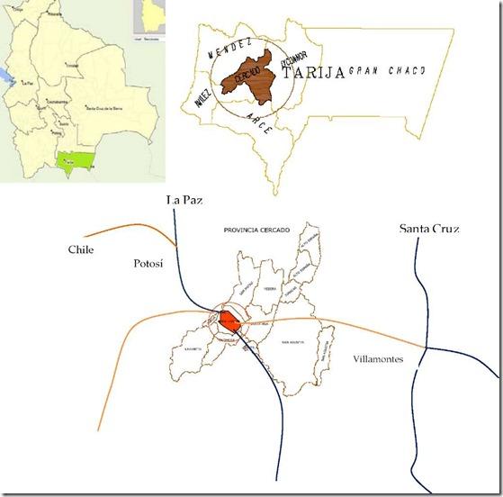 Provincia Cercado (1843): departamento de Tarija (Bolivia)