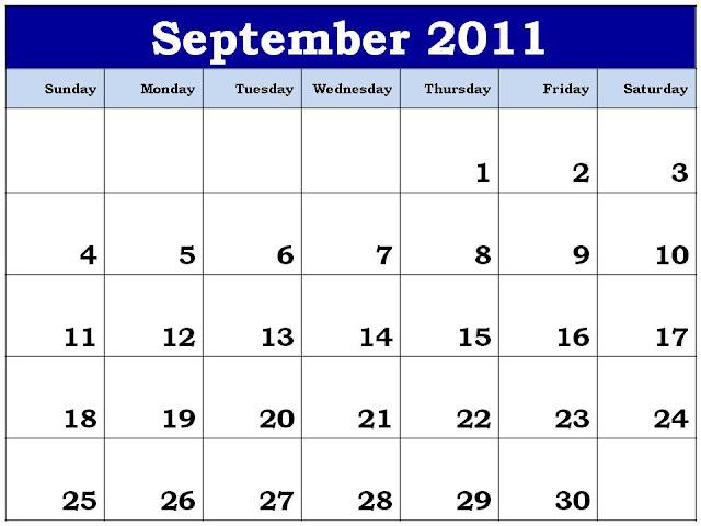 calendar september 2011. Calendar Planner 2011