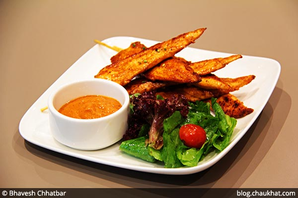 Seared Chicken Skewers served at 212 All Day Cafe & Bar at Phoenix Marketcity in Pune