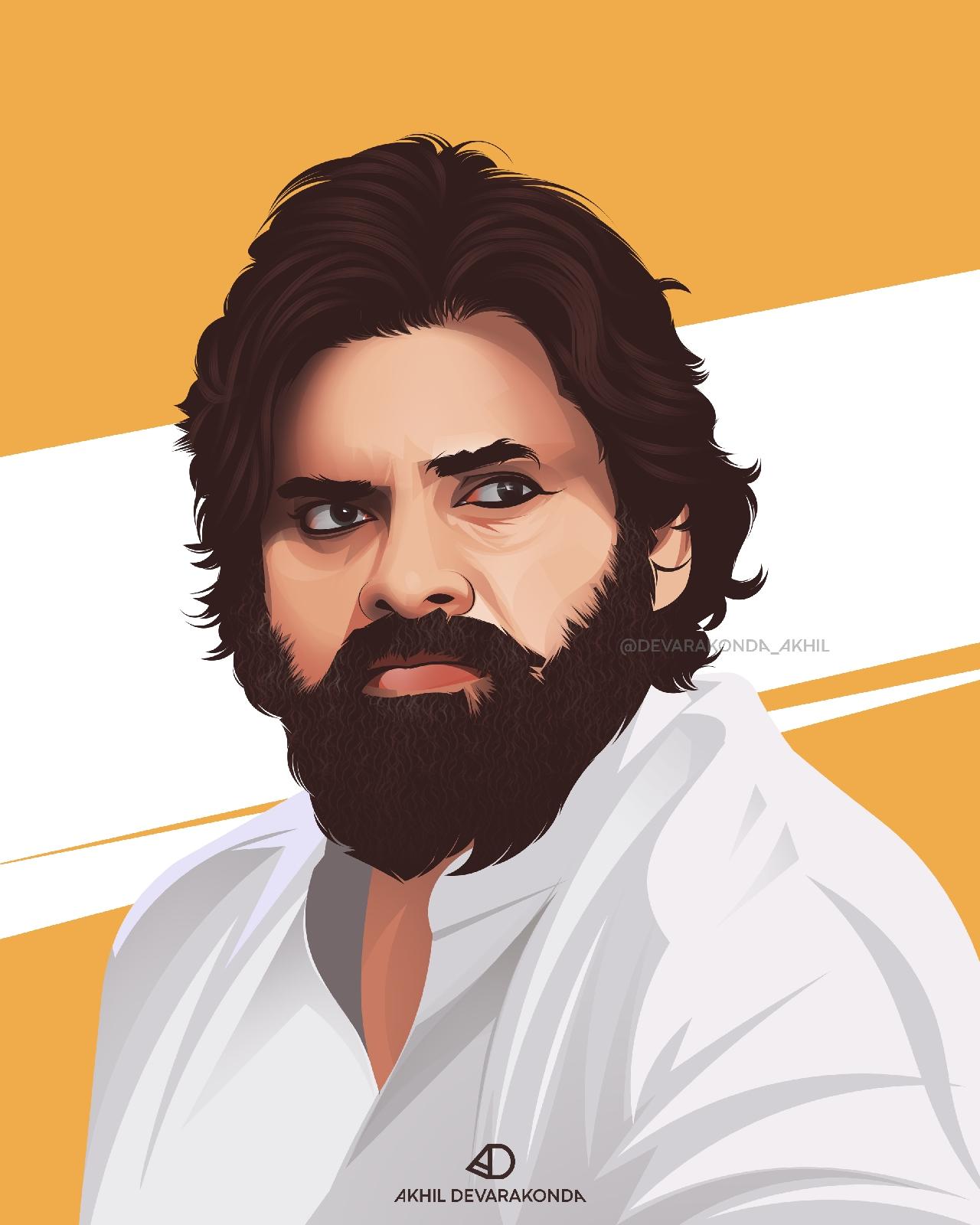 Pawan Kalyan Vector Artwork - Akhil Devarakonda