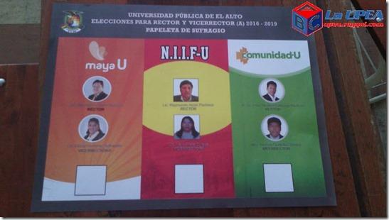 Elecciones 2016 en la UPEA