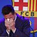 Messi bid a tearful farewell to Barcelona on Sunday