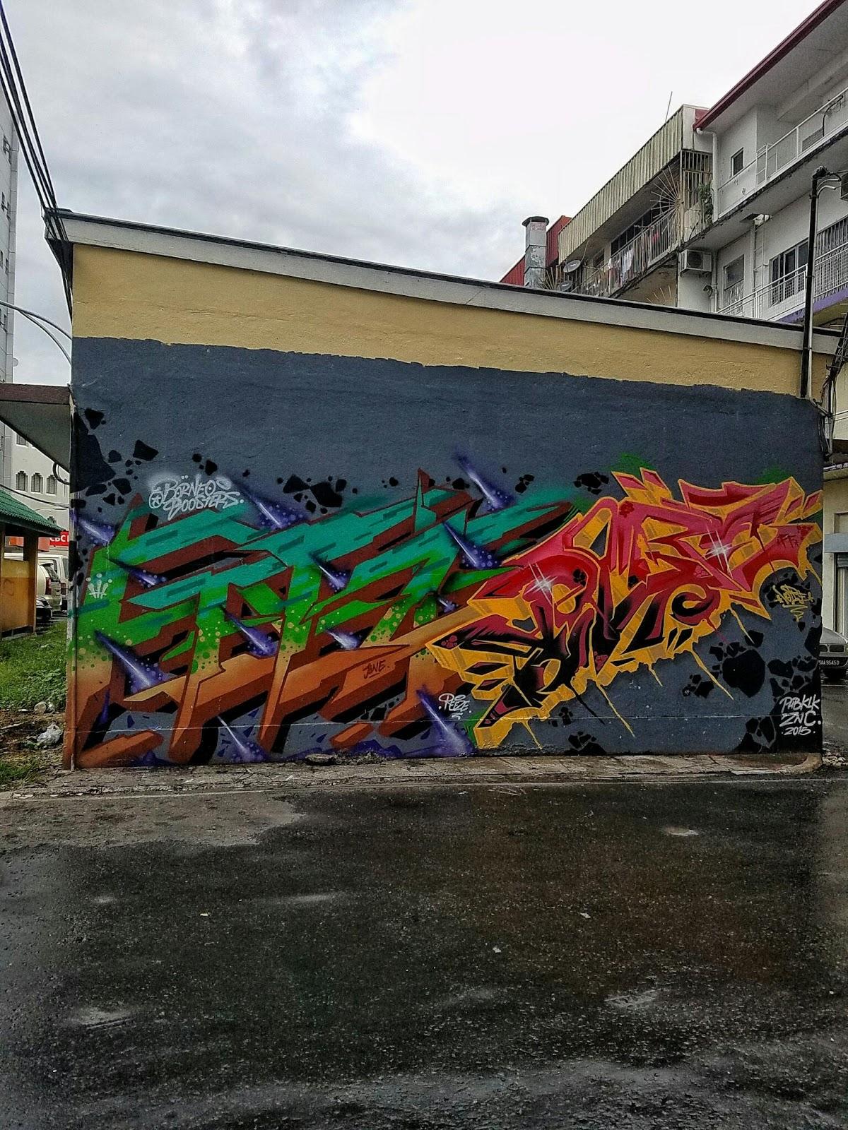 gaya street jalan gaya sabah malasyia borneo street art