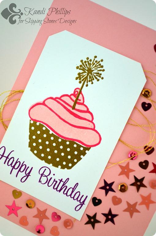 Happy Birthday Cupcake Closeup