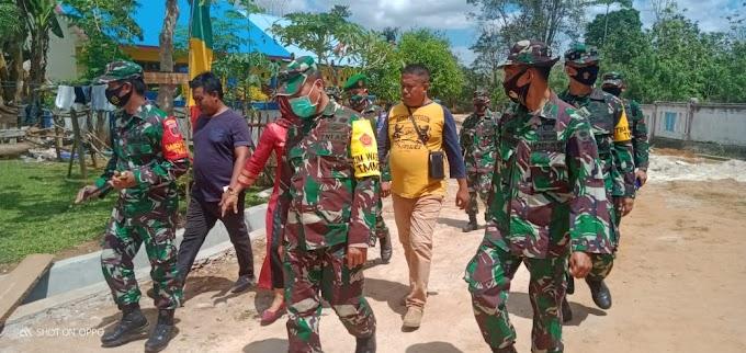 Tim Wasev Mabes TNI AD Melaksanakan Peninjauan Ke Satgas TMMD Kodim 1416/Muna