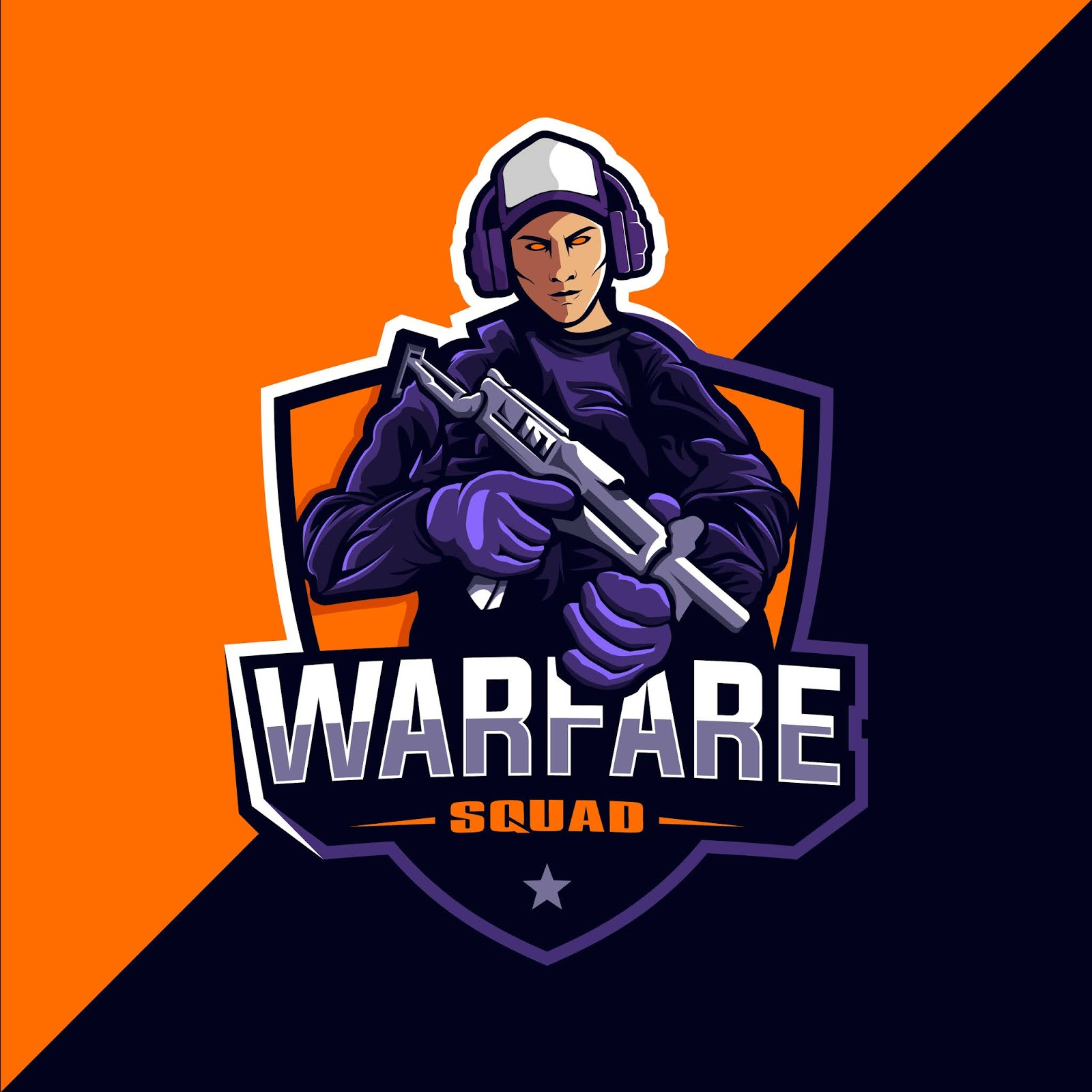 Warfare Squad Game Esport Logo Free Download Vector CDR, AI, EPS and PNG Formats
