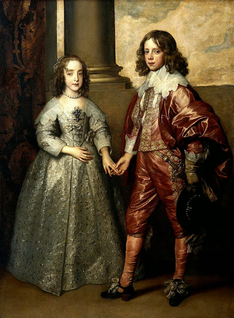Bartholomeus van der Helst - Portrait of William of Orange as a prince with his future bride, Mary Stuart