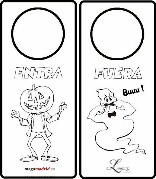 Plantillas Hallowen para Puertas