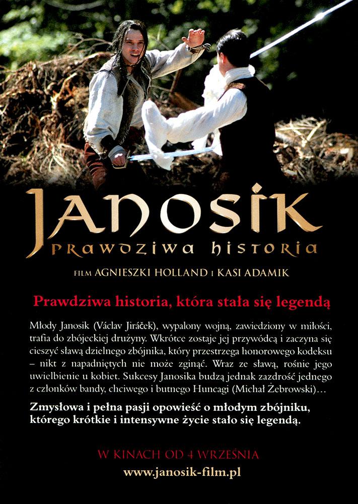 Ulotka filmu 'Janosik. Prawdziwa Historia (tył)'