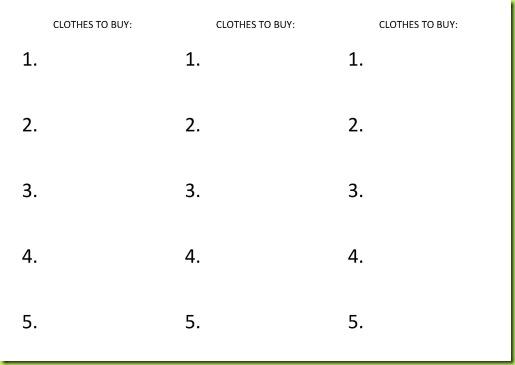 Tema 2. Lápices al centro. Clothes shop