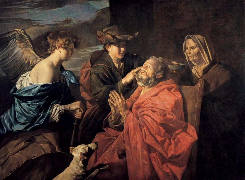 Matthias Stom - Healing of Tobit
