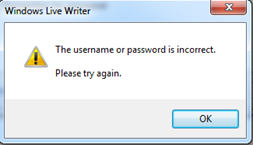 fix username and password incorect