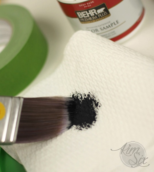 Pouncing paint brush for dry brush stencil