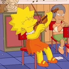 Lisa plays violin