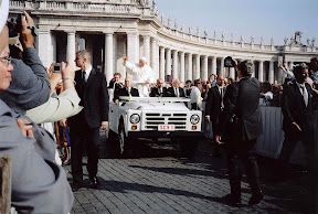Pope Benedict XVI in Fiat Jeep Popemobile