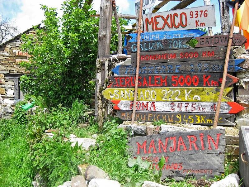 Entfernungsangaben bei Manjarín