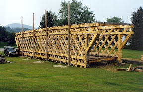 Towne Lattice truss spanning eighty feet.
