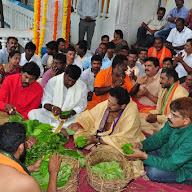 Chiranjeevi Birthday Celebrations At Filmnagar Temple