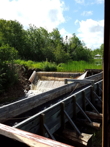 The river, getting ready to power the grist mill. From  Acadian History Comes Alive in a New Brunswick Village