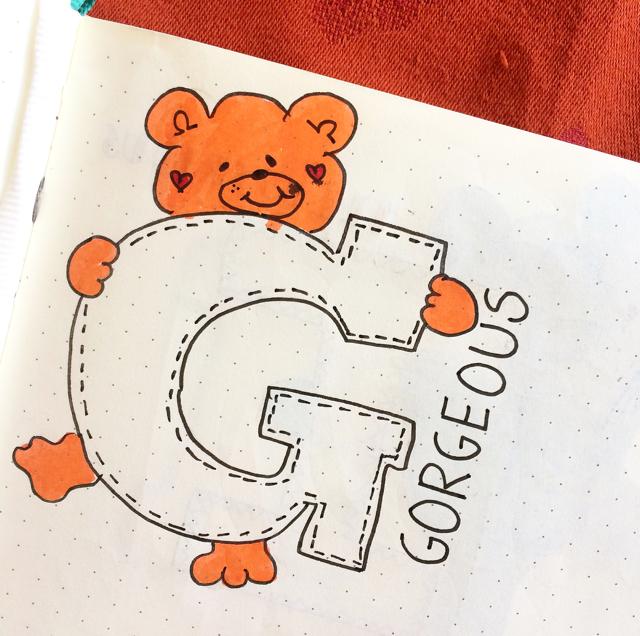 #100DaysOfDoodles | Day 34 | What is your favorite word starting with Letter G? | The 100 Day Project 2017